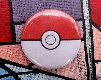 "Pokeball 1.25"" Pinback Button"