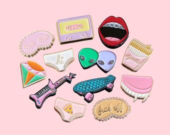 Choose 3 Soft Enamel Pins / Lapel Pins - 3 fatjunkie pins