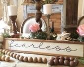 Fearless, Handmade Wood S...