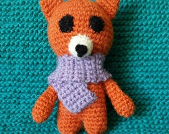 Crocheted toy fox