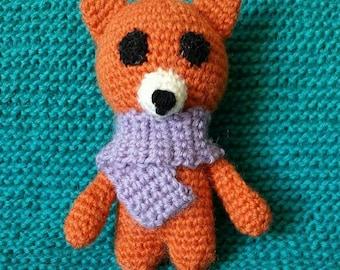 Crocheted toy fox