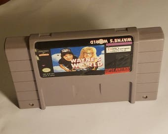 Wayne's World Super Nintendo Video Game Cartridge (SNES)