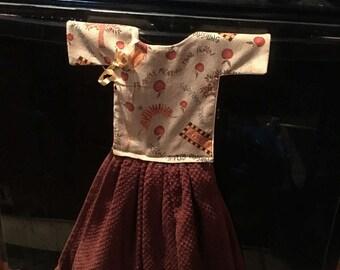 Reversible Kitchen Oven Door Dress Tea Towel