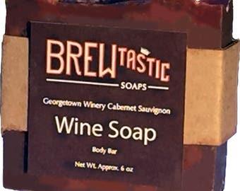 Wine Soap Cabernet Sauvignon Red Women Clean Classy Grape Purple Pink Handmade