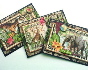 Safari Adventure Graphic-45 3 Card Kit Class