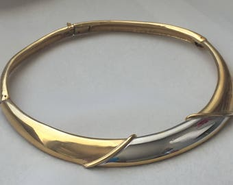 LANVIN Choker Costume Jewelry Necklace Stamped LANVIN Paris As is