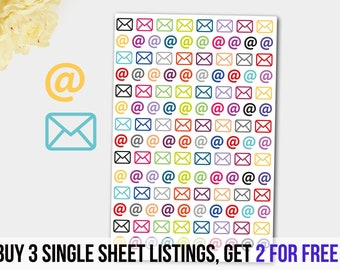 mail stickers envelope stickers email stickers at sign stickers day planner stickers letter stickers mailbox stickers