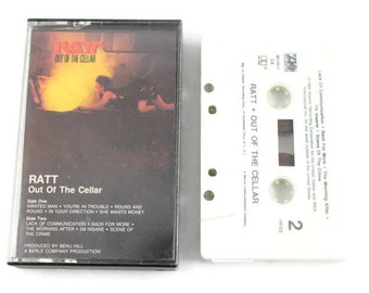 "1984 RATT ""Out of the Cellar"" Cassette Tape"