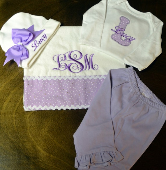 Personalized Baby Girl Going Home Outfit, Newborn Baby Girl Clothes, Baby Girl Coming Home Outfit, Baby Girl Outfits, Baby Girl Gift