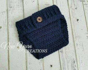 Diaper Cover, Crochet Diaper Cover, Crochet Button Diaper Cover, Diaper Cover Photo Prop, Baby Diaper Cover, Diaper Cover, READY TO SHIP!