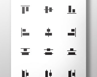 Alignment Icons, Graphic Design, Vector, Illustrator, Photoshop, InDesign, Alignment Tools, Adobe,