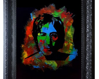 John Lennon ~ The Beatles Art ~ John Lennon Imagine ~ John Lennon Painting ~ John Lennon Poster ~ Beates Wall Art ~ Beatles Art ~ Lennon Art