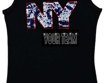 New York Bling Tank Top sequins Shirt no rhinestones