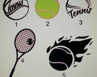 Tennis Decals, Yeti Decals, Car Window Decals, Laptop Decals