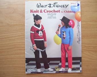 Walt Disney Knit And Crochet For Children - Pattern Book