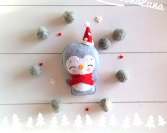 Christmas penguin ornament