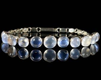 Antique Victorian Gold Moonstone Bracelet