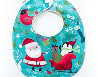"Bib ""Claus is here"""