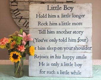 Items Similar To Baby Boy Poem Birthday Baptism