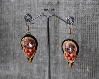 Taliya Earrings, polymer clay imitation Soutache, for women, the original gift, exclusive