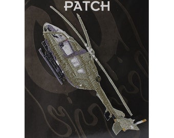 "Army Chopper On Patch 5"" x 1.7"" Free Shipping by C&D Visionary P-3824 ***Does not come on black backing***"