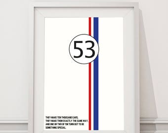 Herbie the Love Bug - Something Special Quote Minimal Style Poster Print