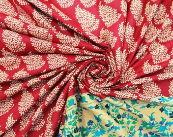 Dressmaking Fabric Cotton Fabric For Sewing Designer Quilting Craft Fabric Red Floral Cotton Sewing Curtain Pillow Drape By The Yard ZBC1595