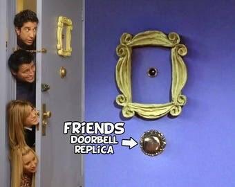 friends tv show DOORBELL REPLICA friends peephole frame friends frame marco friends series tv timbre marco door frame gift mom