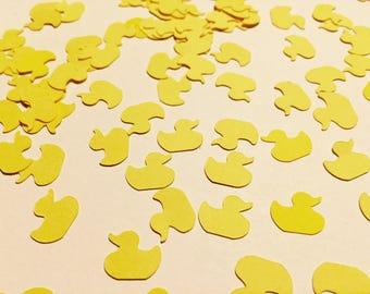 Ducks confetti, yellow rubber ducks die cut, Babyshower, Birthday, Decoration party