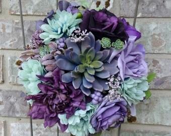 Plum & Mint Succulent Bouquet
