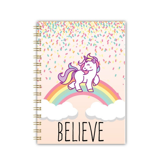 Unicorn Notebook Bullet Journal Marble A5 Notebook A4