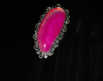 CLEARANCE *Pink Agate Ring Size 8