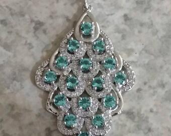 Beautiful Blue Topaz Pendant Necklace