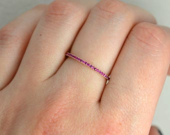 14K Rose Gold with Ruby