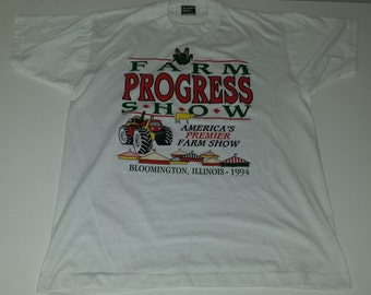 Vintage 90s 1994 Farm Progress Show Graphic  tshirt size L