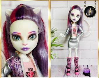 "Monster OOAK doll ""Kitty"" high fashion custom"