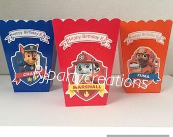 12 Paw Patrol mini popcorn boxes