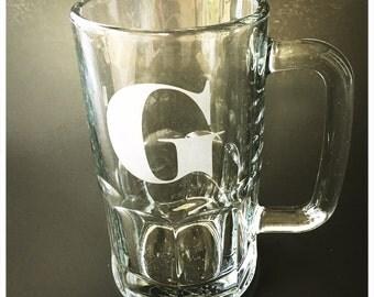 Monogrammed Beer Mug