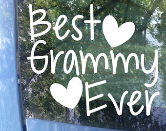 Best Grammy Ever Car Decal | Mother's Day | Grandparents Day | Grammy | Grandma | Grandparent | Grandkids | Grammy Sticker | Gift | Decal