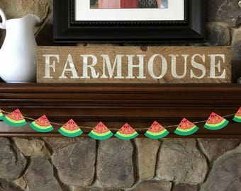 Mini Watermelon Slices Paper Garland/Picnic Garland/Summer Party Garland/Pool Party Banner/Memorial Day Banner/4th of July Banner/Watermelon