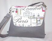 Convertible Purse + Backpack + Messenger Bag // I See London, I See France