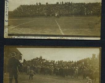 1906 rare lot of 2 postcards Syracuse/Colgate football stadium collapse disaster