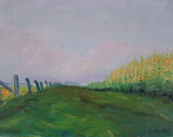 Landscape, Corn Field at Dawn