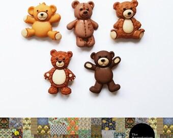 Teddy Bear Fridge Magnet Set