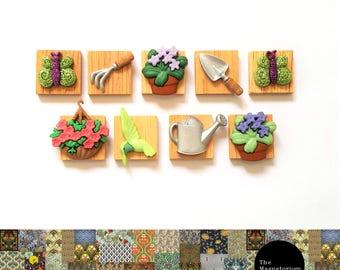 Gardening Time Fridge Magnet Set