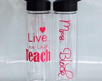 Teacher Appreciation Gift, Gift For Teacher, Personalized Teacher Water Bottle, Personalized Teacher Gift, Teacher Gift, Teacher Gifts