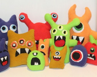 Hand sewn Monsters
