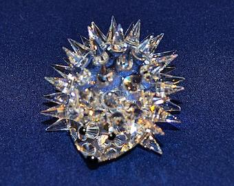 Swarovski Crystal Hedgehog Figurine, Crystal Hedgehog