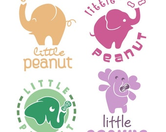 Little Peanut Cuttable Design SVG, DXF, EPS use with Silhouette Studio & Cricut, Vector Art, ...