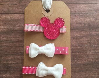 Pink Infant Toddler Alligator Hair Clips